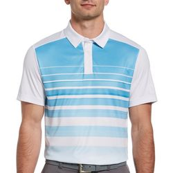 PGA TOUR Mens Ombre Heritage Stripe Polo Shirt