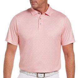 PGA TOUR Mens Mosaic Knit Polo Shirt