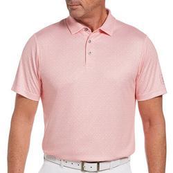Mens Mosaic Knit Polo Shirt