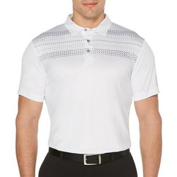 PGA TOUR Mens Geo Dot Print Short Sleeve Golf Polo Shirt