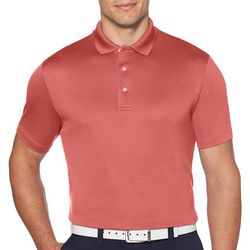 PGA TOUR Mens Airflux Solid Slim Fit Polo