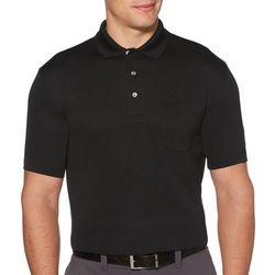 Mens Airflux Solid Pocket Polo Shirt