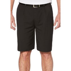 Mens Golf Double Pleated Extender Solid Shorts