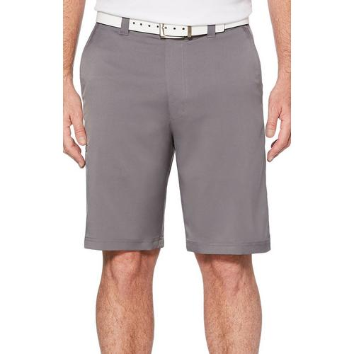 PGA TOUR Mens Flat Front Solid Tech Cargo Short