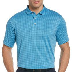 PGA TOUR Mens Mini Widowpane Polo Shirt