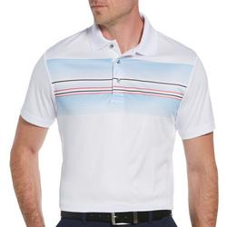 Mens Engineered Leisure Stripe Polo Shirt