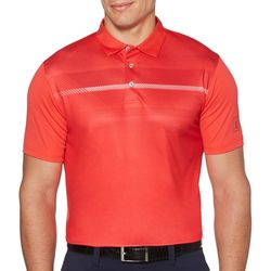 PGA TOUR Mens Big & Tall Heritage Stripe Golf Polo Shirt