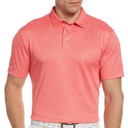PGA TOUR Mens Jaquard Diamond Polo Shirt