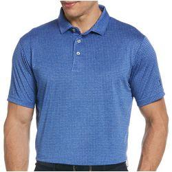 PGA TOUR Mens Mini Plaid Polo Shirt