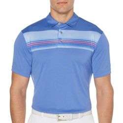 PGA TOUR Mens Energy Stripe Short Sleeve Polo Shirt