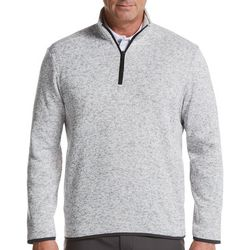 PGA TOUR Mens Heathered Fleece Quarter Zip Pullover Sweater