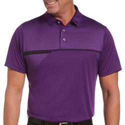 Mens Stripe Panel Polo Shirt