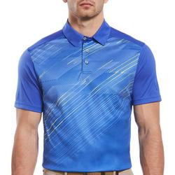 Mens Diagonal Placement Print Polo Shirt
