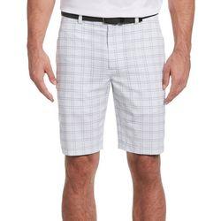 PGA TOUR Mens Textured Windowpane Plaid Shorts