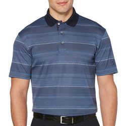 Mens Digital Stripe Short Sleeve Polo Shirt