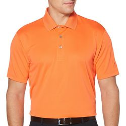 PGA TOUR Mens Airflux Solid Polo Shirt