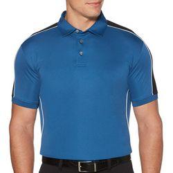 PGA TOUR Mens Solid Shoulder Panel Short Sleeve Polo Shirt
