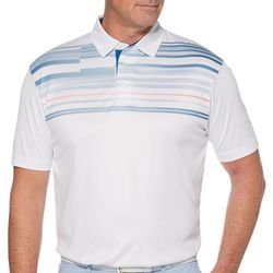PGA TOUR Mens Multi-Stripe Short Sleeve Polo Shirt