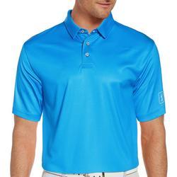 Mens Gingham Print Short Sleeve Polo Shirt