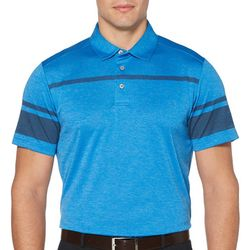 PGA TOUR Mens Stripe Stacked Polo Shirt