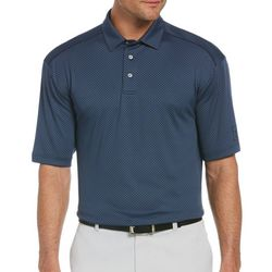 PGA TOUR Mens Jacquard Geo Diamond Polo Shirt