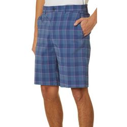 PGA TOUR Mens Plaid Fashion Shorts
