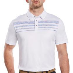Mens Heather Stripes Short Sleeve Polo Shirt