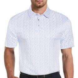 PGA TOUR Mens Conversal  Print Polo Shirt