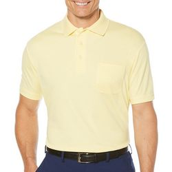 PGA TOUR Mens Pocket Solid Polo Shirt