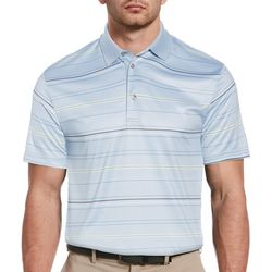 PGA TOUR Mens All Over Stripe Polo Shirt