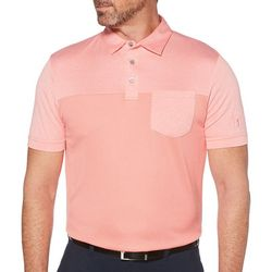 PGA TOUR Mens End On End Air Textured Pocket Polo Shirt