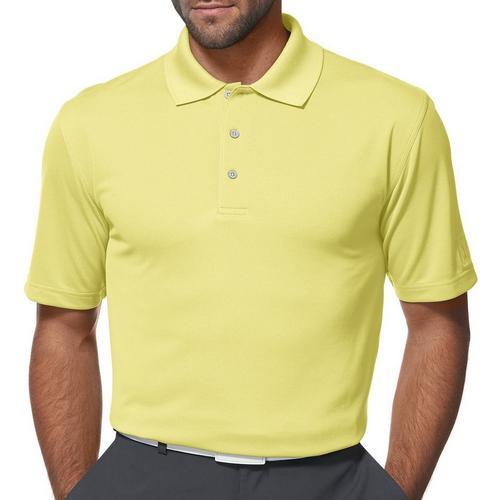 PGA TOUR Mens Short Sleeve Airflux Solid Polo Shirt