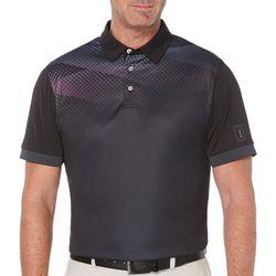 PGA TOUR Mens Diamond Ombre Short Sleeve Polo Shirt