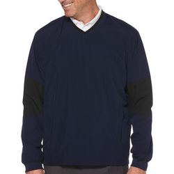 PGA TOUR Mens Water Repellent V-Neck Lightweight Pullover