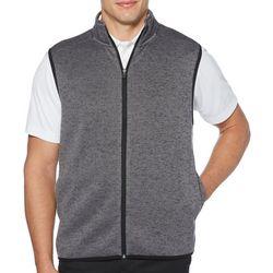 PGA TOUR Mens Heathered Fleece Zip Up Vest