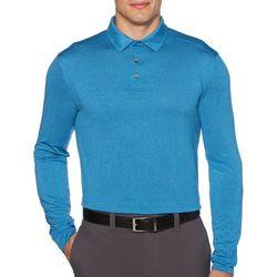 PGA TOUR Mens Big & Tall Solid Long Sleeve Polo Shirt
