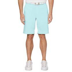 Mens Heathered Active Waistband Golf Shorts