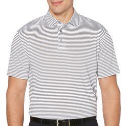 PGA TOUR Mens Sing Feeder Stripe Polo Shirt