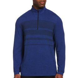 PGA TOUR Mens Space Dye Quarter Zip Pullover Sweater