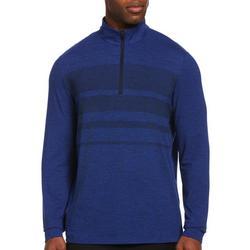 Mens Space Dye Quarter Zip Pullover Sweater