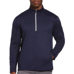 PGA TOUR Mens Solid 1/4 Zip Fleece Pullover Sweater