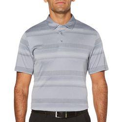 PGA TOUR Mens Air Texturized Geo Stripe Golf Polo Shirt