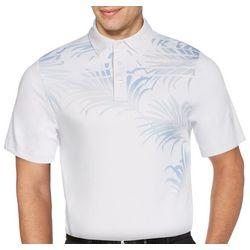 PGA TOUR Mens Diagonal Tropical Placement Print Polo Shirt