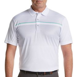 PGA TOUR Mens Short Sleeve Ombre Print Polo Shirt