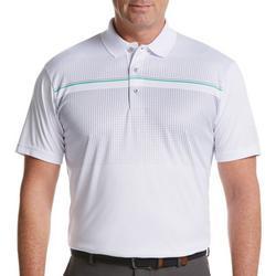 Mens Short Sleeve Ombre Print Polo Shirt
