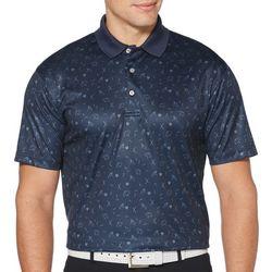 Mens Short Sleeve Golf Umbrella Polo Shirt