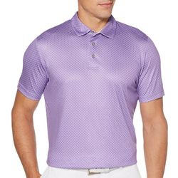 PGA TOUR Mens Diamond Print Polo Shirt