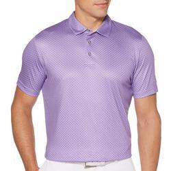 Mens Diamond Print Polo Shirt