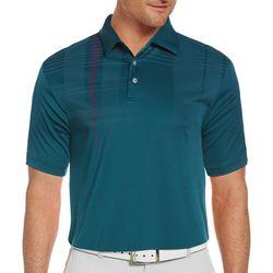 Mens Graphic Stripe Polo Shirt