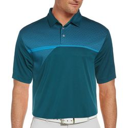 PGA TOUR Mens Stripe Panel Polo Shirt